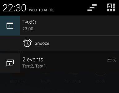 Multiple Calendar Notifications
